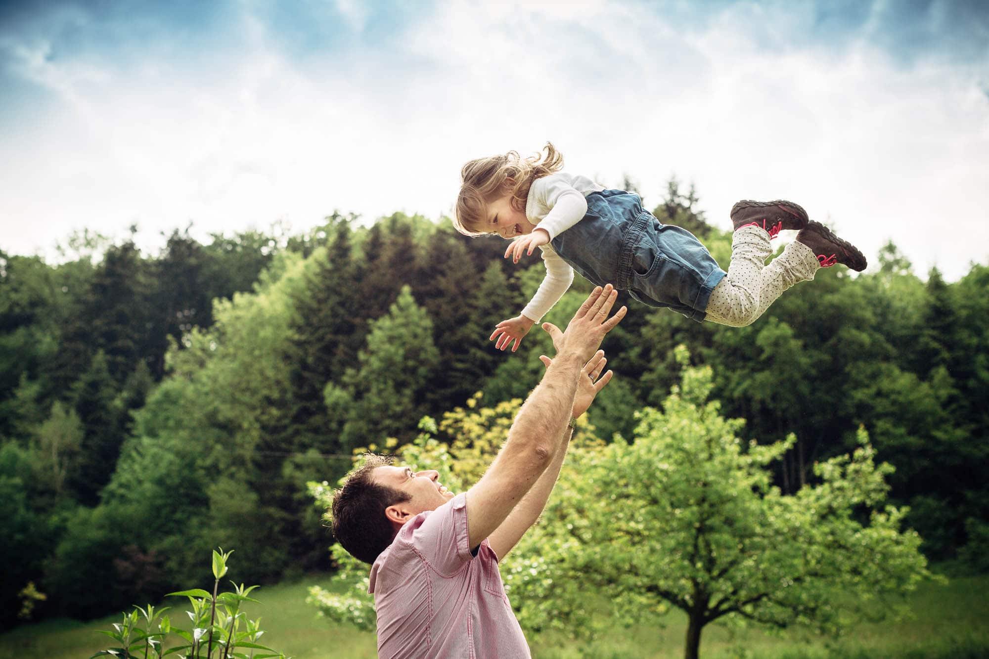 Familienfotos in Benken Natur