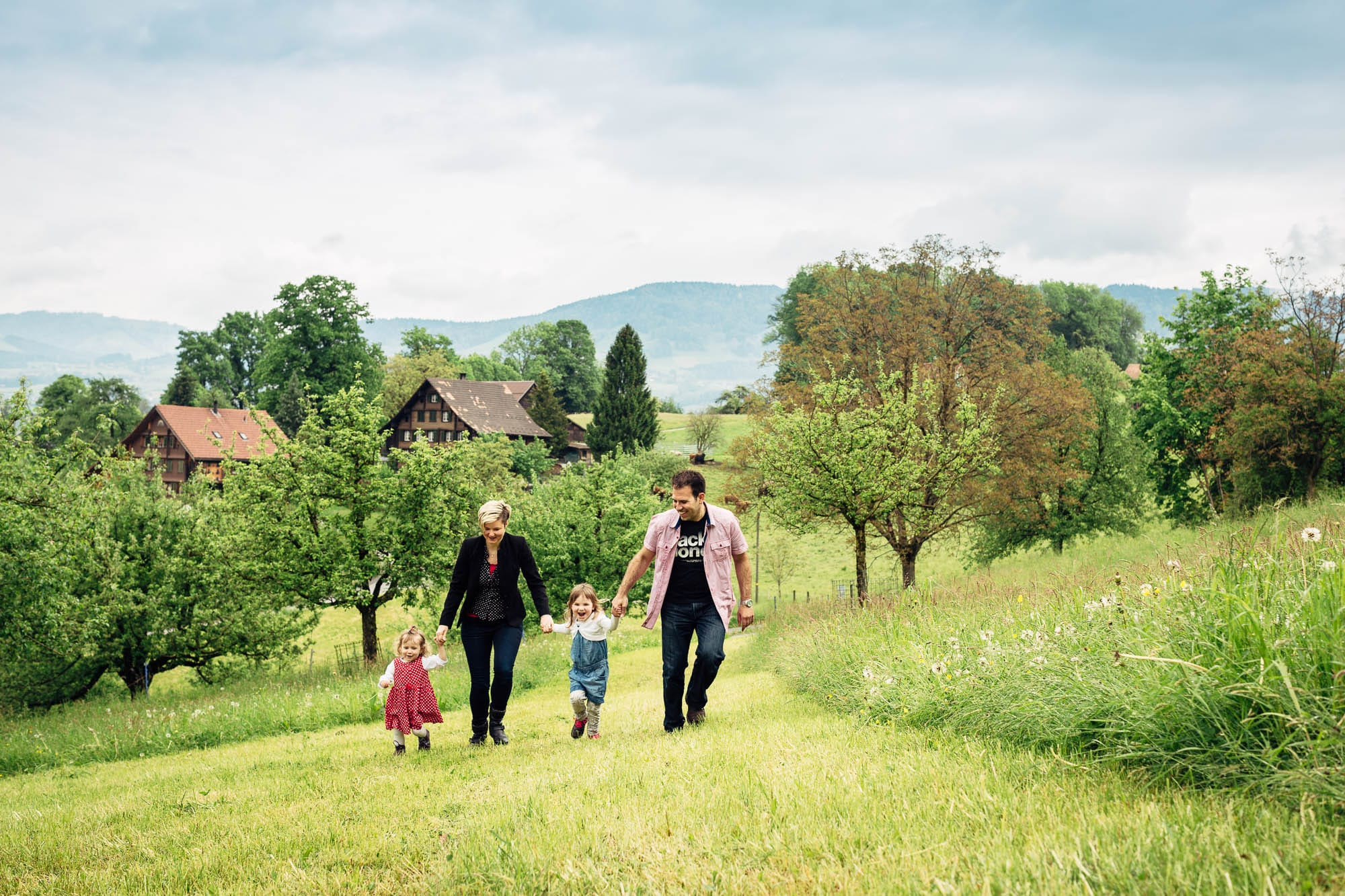 Familienfotos in Benken auf dem Bauernhof