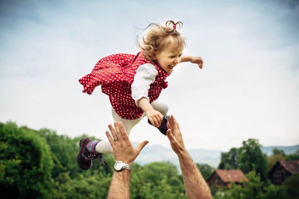 Familienfotos in Benken mit Luft